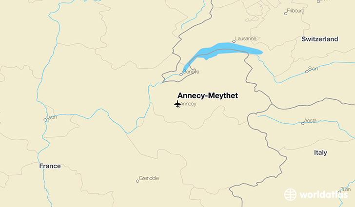 Annecy-Meythet location on a map