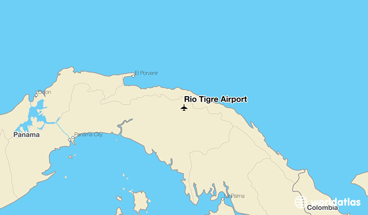 Rio Tigre Airport location on a map