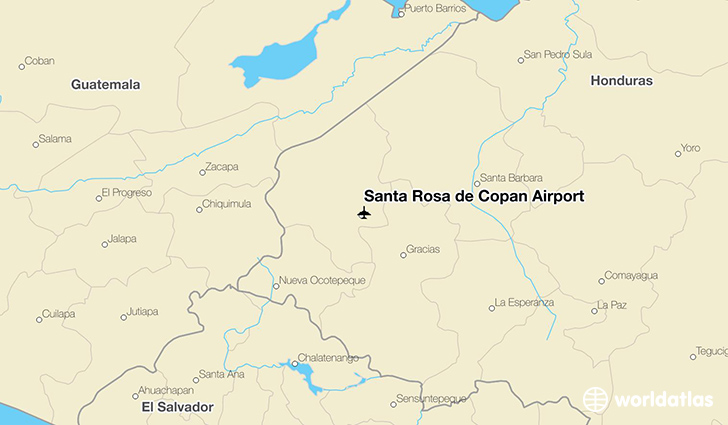 Santa Rosa de Copan Airport location on a map