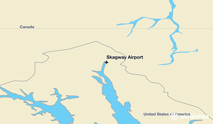 Skagway Airport location on a map