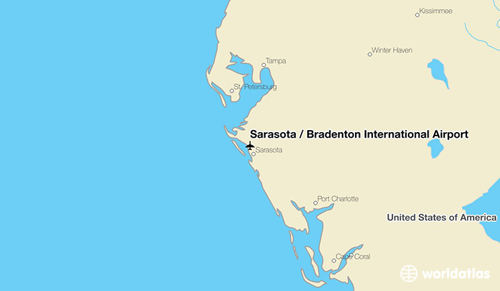 Sarasota / Bradenton International Airport location on a map