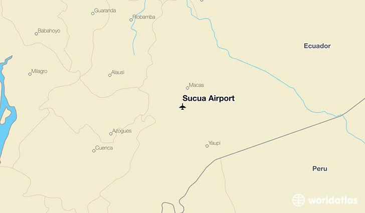 Sucua Airport location on a map