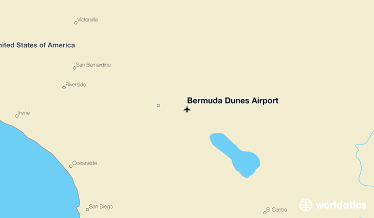 Bermuda Dunes Airport location on a map