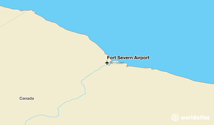 Fort Severn Airport location on a map