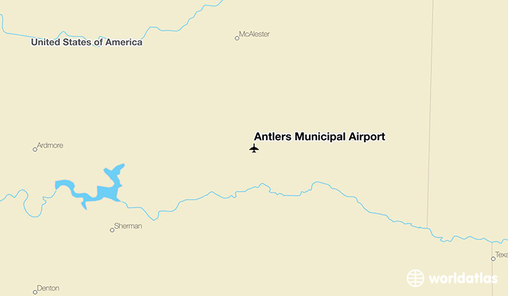 Antlers Municipal Airport location on a map