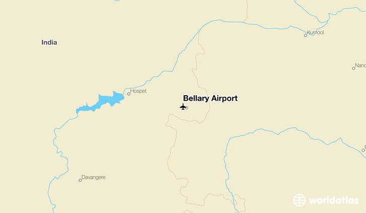 Bellary Airport location on a map