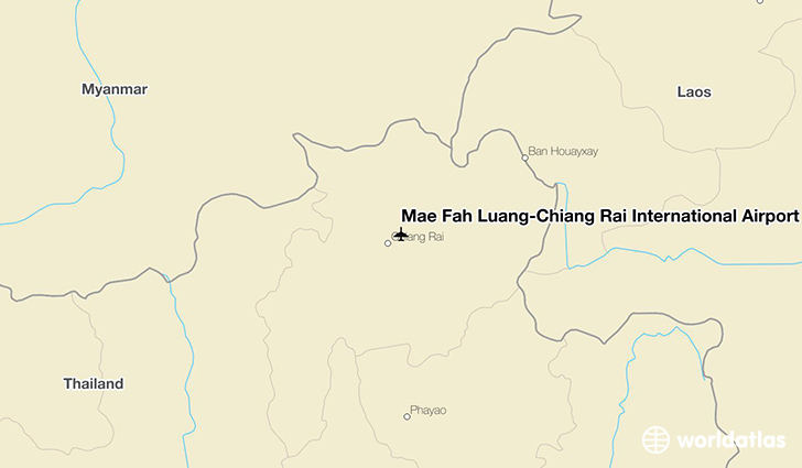 Mae Fah Luang-Chiang Rai International Airport location on a map