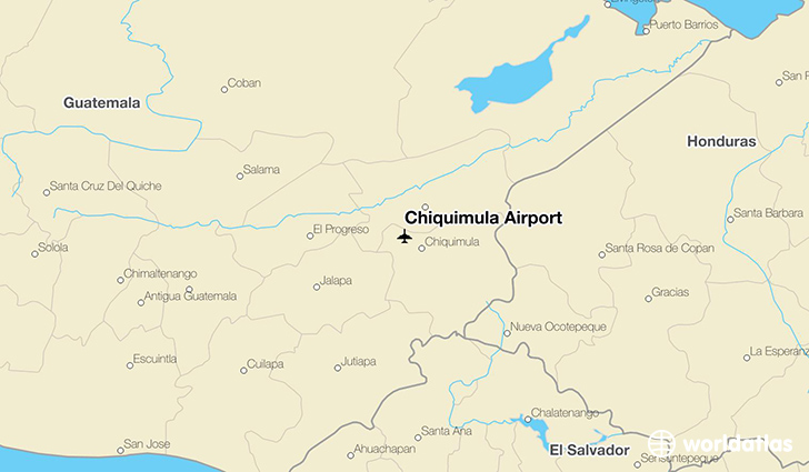Chiquimula Airport location on a map