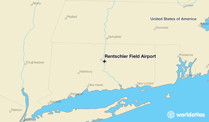 Rentschler Field Airport location on a map