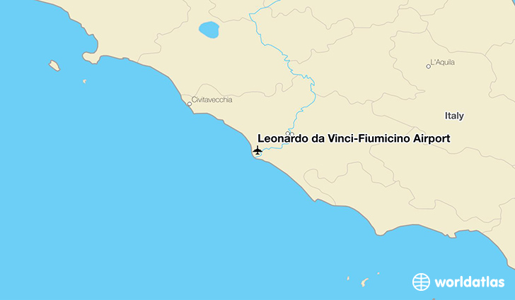 Leonardo da Vinci–Fiumicino Airport location on a map