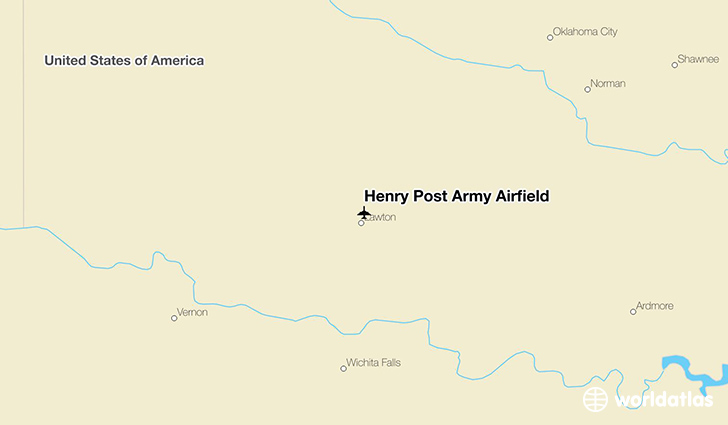Henry Post Army Airfield location on a map