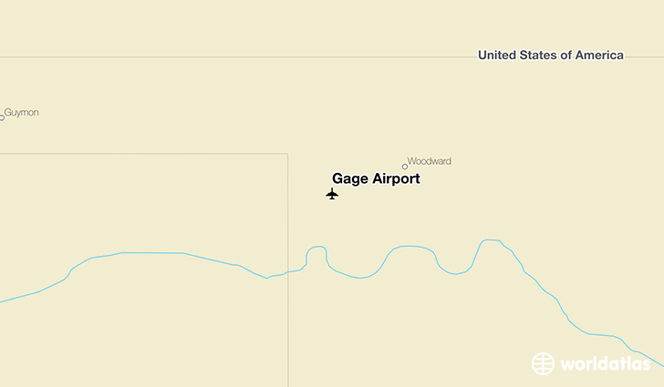 Gage Airport location on a map