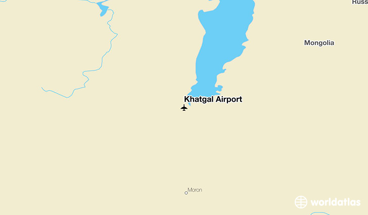 Khatgal Airport location on a map