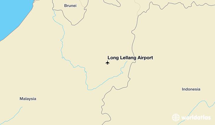 Long Lellang Airport location on a map