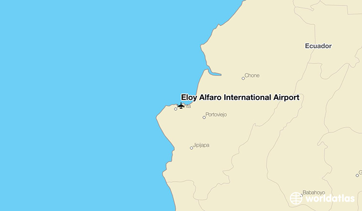 Eloy Alfaro International Airport location on a map