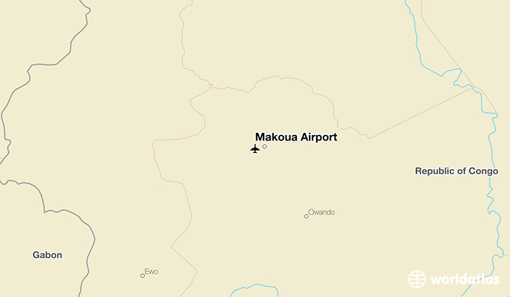 Makoua Airport location on a map
