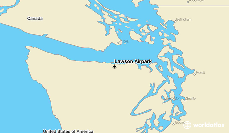 Lawson Airpark location on a map