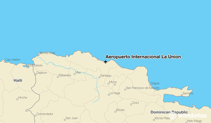 Aeropuerto Internacional La Unión location on a map