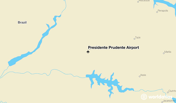 Presidente Prudente Airport location on a map