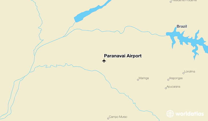 Paranavaí Airport location on a map