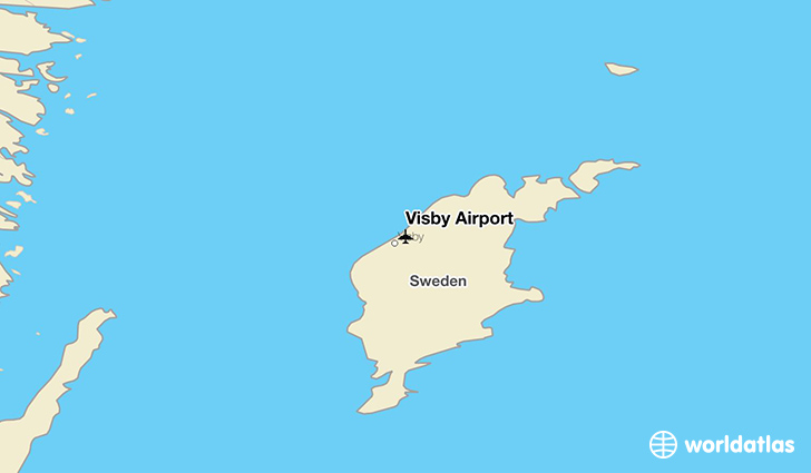 Visby Airport location on a map