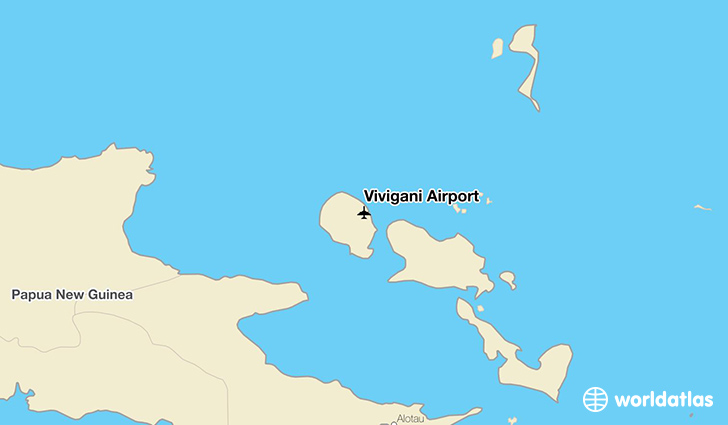 Vivigani Airport location on a map