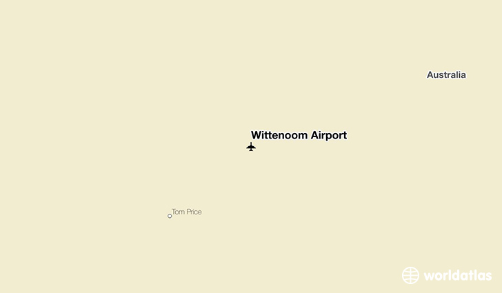 Wittenoom Airport location on a map