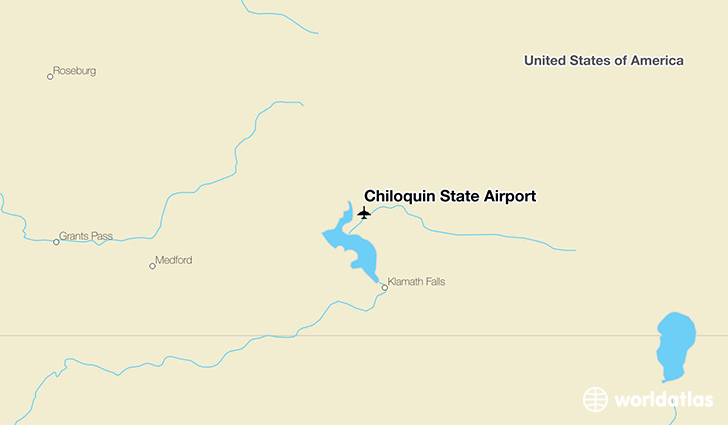 Chiloquin State Airport location on a map