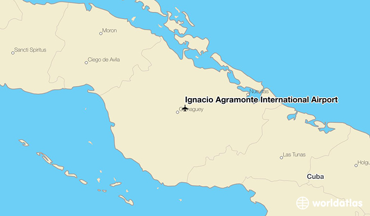 Ignacio Agramonte International Airport location on a map