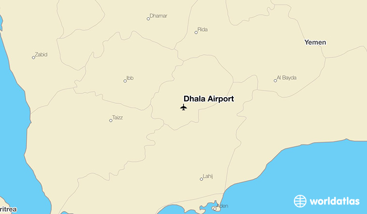 Dhala Airport location on a map