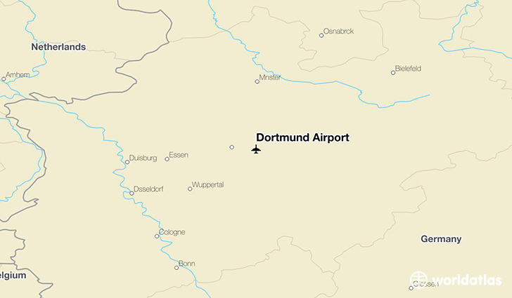 Dortmund Airport location on a map