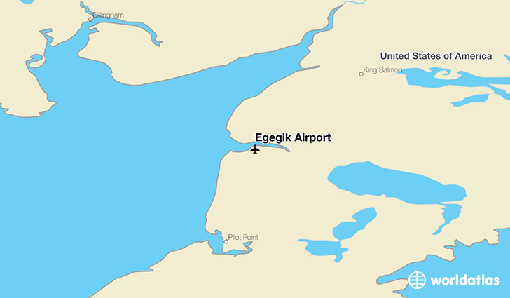 Egegik Airport location on a map