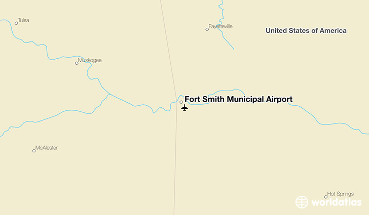 Fort Smith Municipal Airport location on a map