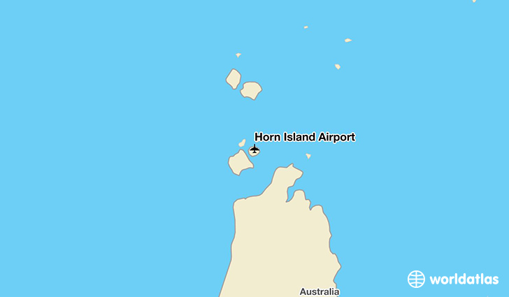 Horn Island Airport location on a map