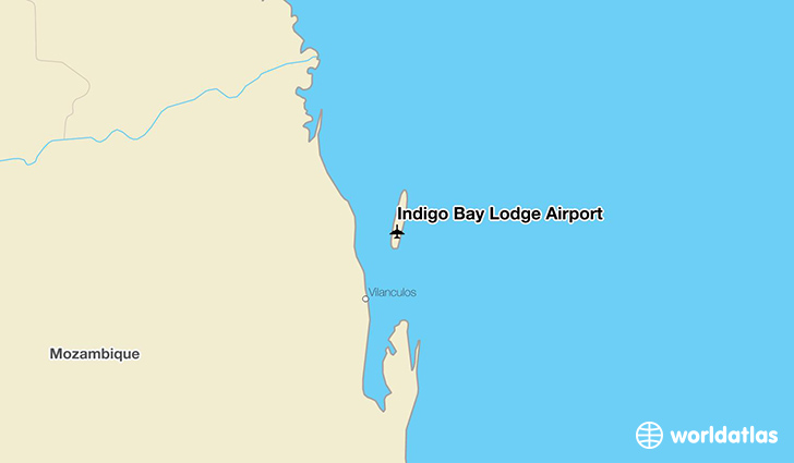 Indigo Bay Lodge Airport location on a map