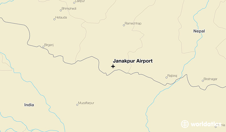 Janakpur Airport location on a map