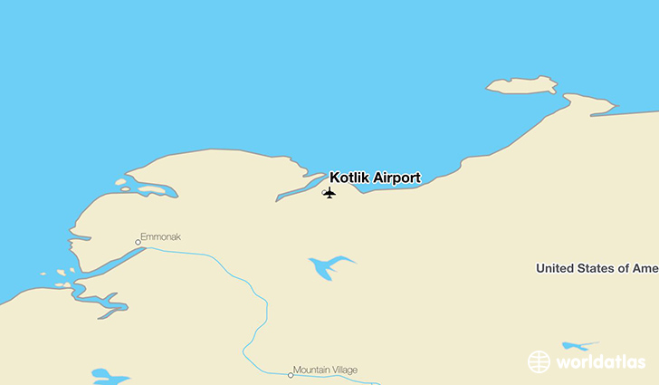 Kotlik Airport location on a map