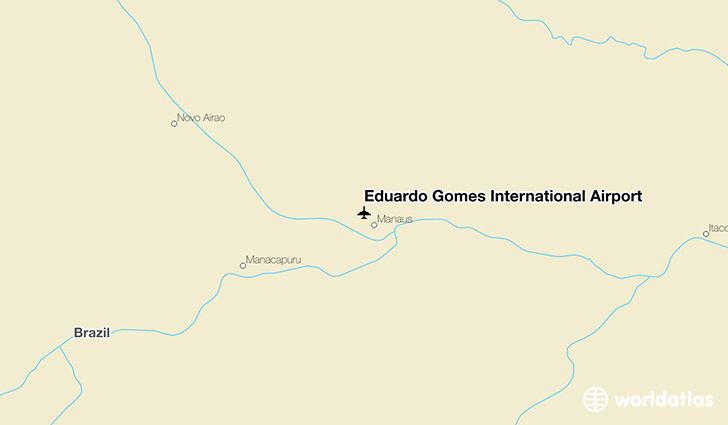 Eduardo Gomes International Airport location on a map