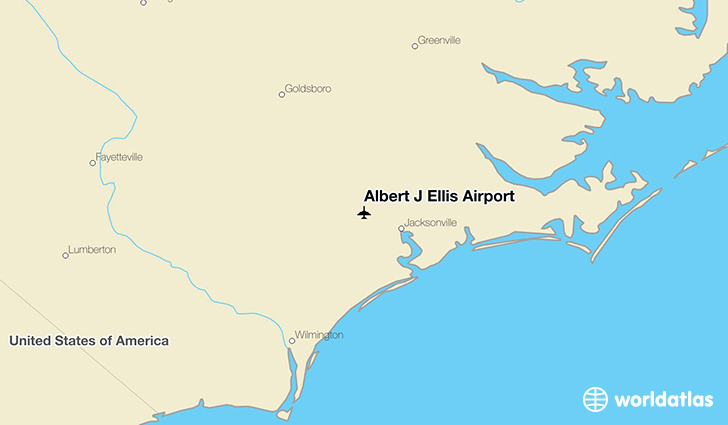 Albert J Ellis Airport location on a map