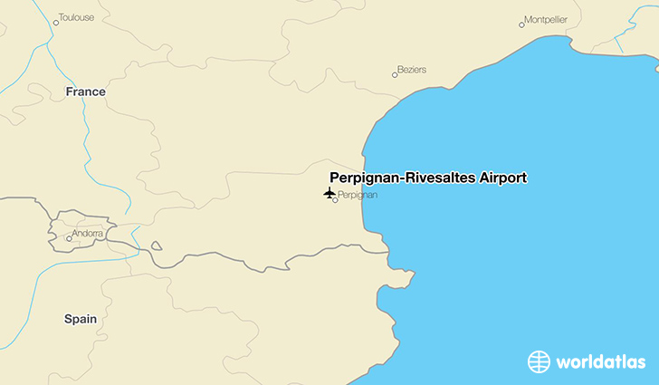Perpignan–Rivesaltes Airport location on a map