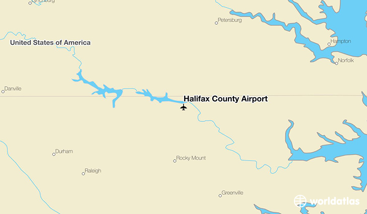 Halifax County Airport location on a map