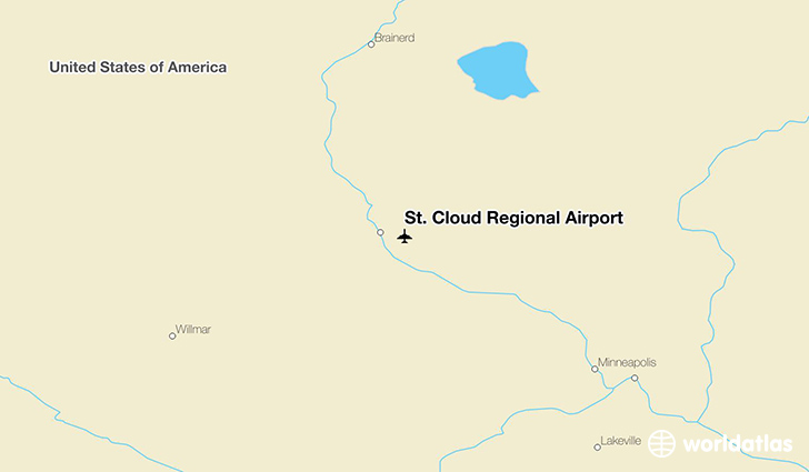 St. Cloud Regional Airport location on a map
