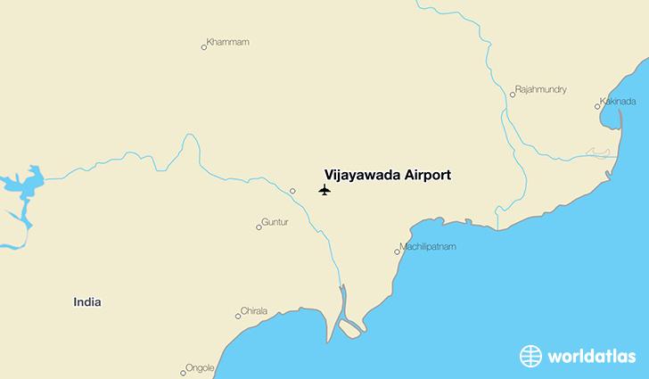 Vijayawada Airport VGA WorldAtlas