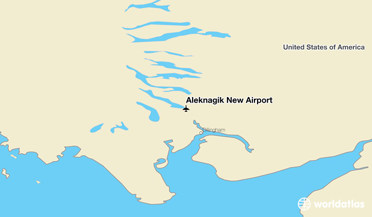 Aleknagik New Airport location on a map