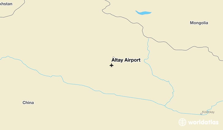 Altay Airport location on a map