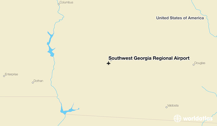 Southwest Georgia Regional Airport location on a map