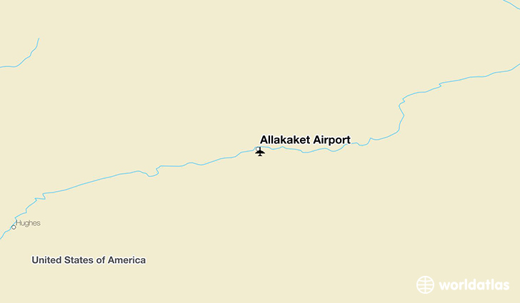 Allakaket Airport location on a map