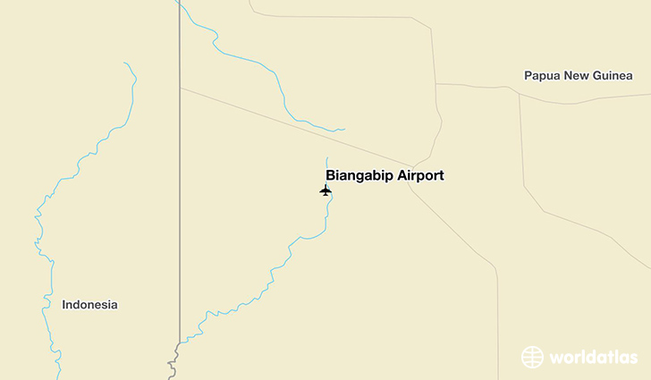 Biangabip Airport location on a map