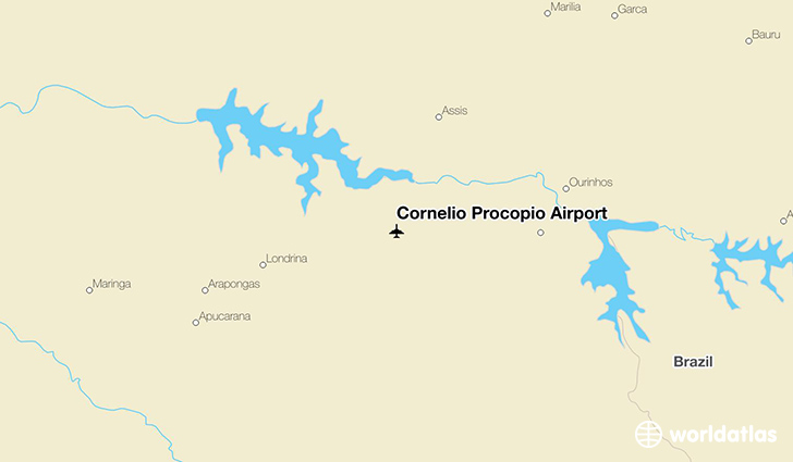 Cornélio Procópio Airport location on a map