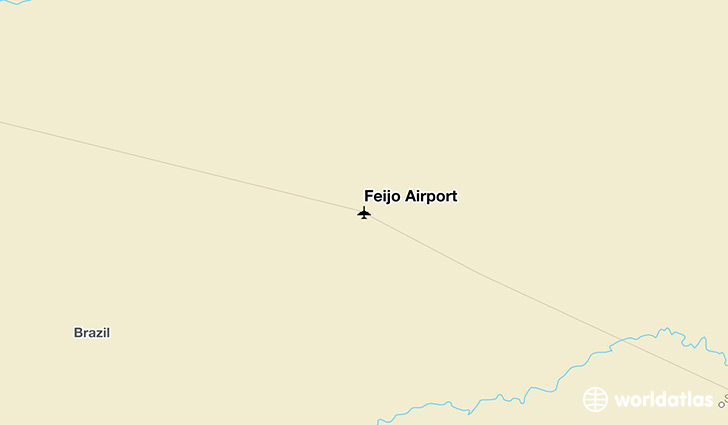 Feijó Airport location on a map
